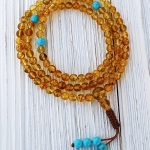 6mm Amber Mala Necklace