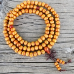 8mm Wood Stretch Mala