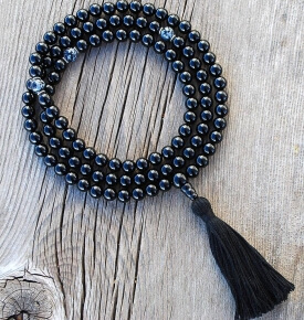 Black Onyx Mala Prayer Bead