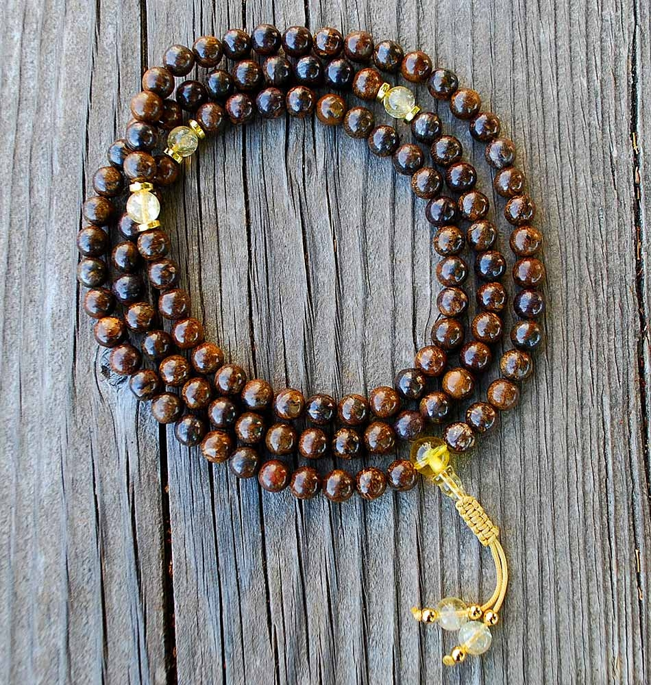 Bronzite Mala Necklace