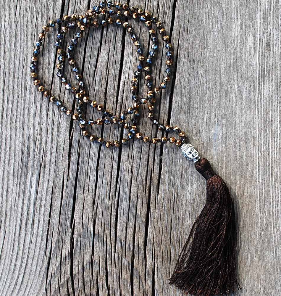 Buddha Tassel Necklace Gold