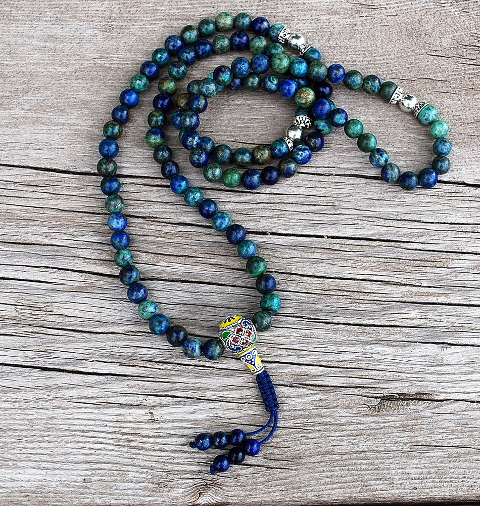 Chrysocolla Mala Prayer Bea