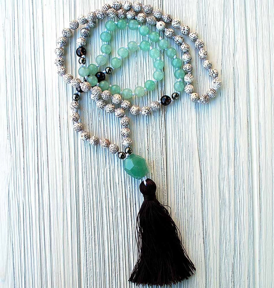 Lotus Lake Mala Necklace