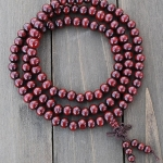 Red Wooden Mala Prayer Bead