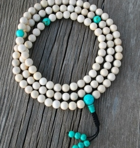 Riverstone with Turquoise Mala