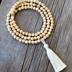 Wood Rose Quartz Mala
