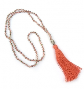 Boho Buddha Necklace-Coral