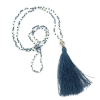 Boho Buddha Necklace- Blue