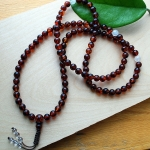 Dark Cherry Amber Mala 8mm