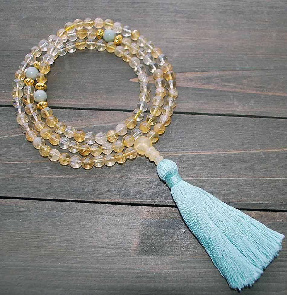 citrine jade prayer beads
