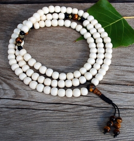 Bone Mala-Cream Colored