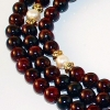 8mm Garnet, Gold & Pearl Mala