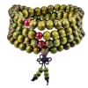 8mm Green Wood Stretch Mala