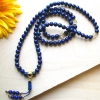 8mm Lapis & Citrine Mala