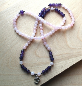 Mini Mala-Rose Quartz