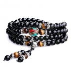 multilayer tigers eye mala