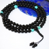 Black Onyx with Turquoise Mala Beads