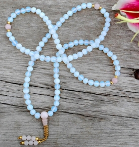 Opalite and Rose Quartz Mala