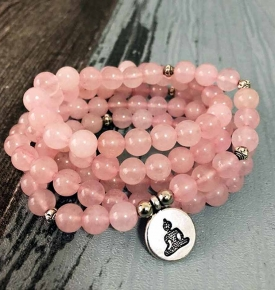 Rose Quartz Stretch mala