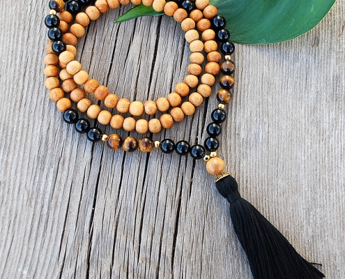 November birthstone mala