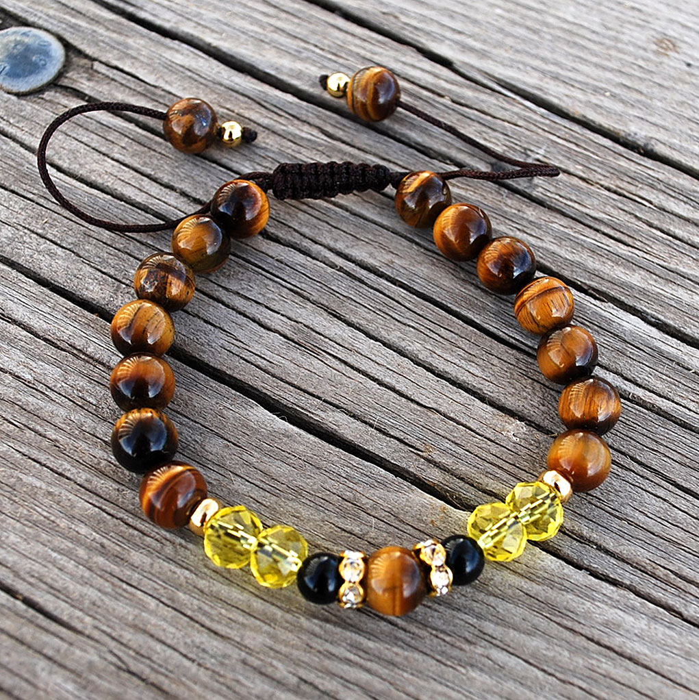Mens Jewelry To Win Warm Praise From Customers Contemplative Black Onyx And Tiger Eye Bracelet Mens Beaded Bracelet