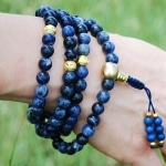 Sodalite and Gold Malas