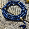 Sodalite and Gold Mala