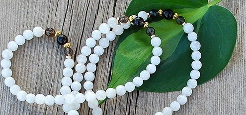 moonstone prayer beads