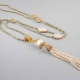 gold tassel necklace 1