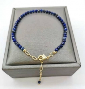 faceted lapis gold filled