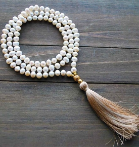 pearl yoga beads
