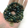 Moss agate stretch malas