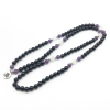 Amethyst and onyx prayer beads