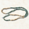 Moss Agate Stretch prayer beads