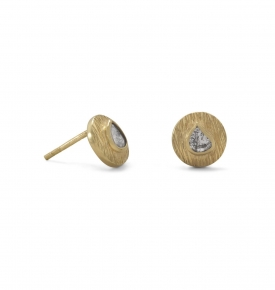 Organic Diamond Gold Plated Studs