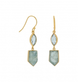 blue topaz earrings gold